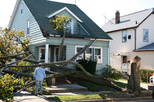 Storm damage restoration in California